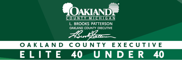 Oakland County Executive's Elite 40 Under 40™ program is the region's leading recognition program that spotlights the top business and community leaders under the age of 40 who excel in their industry and show dynamic leadership.