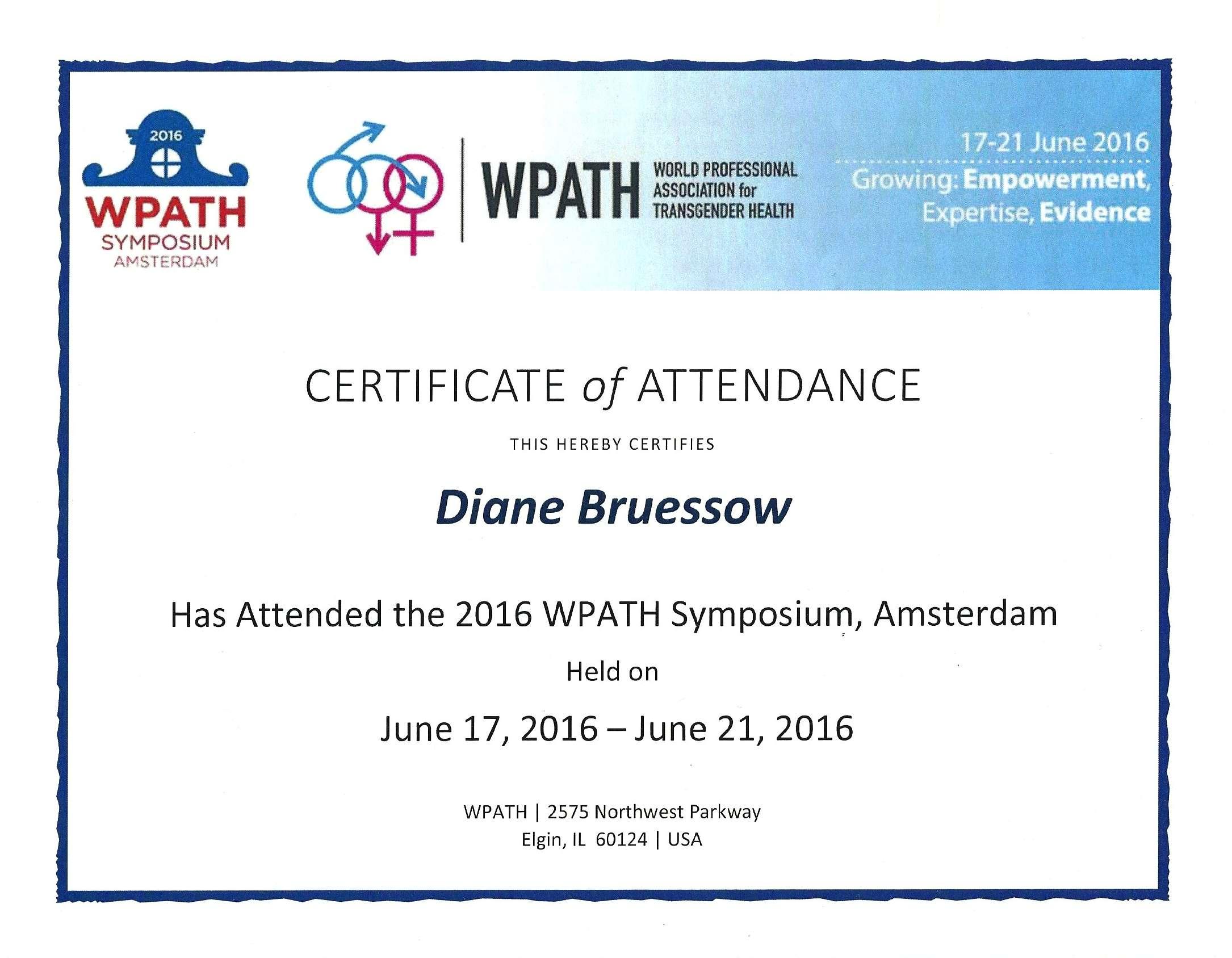 World Professional Association for Transgender Health 2016, Amsterdam