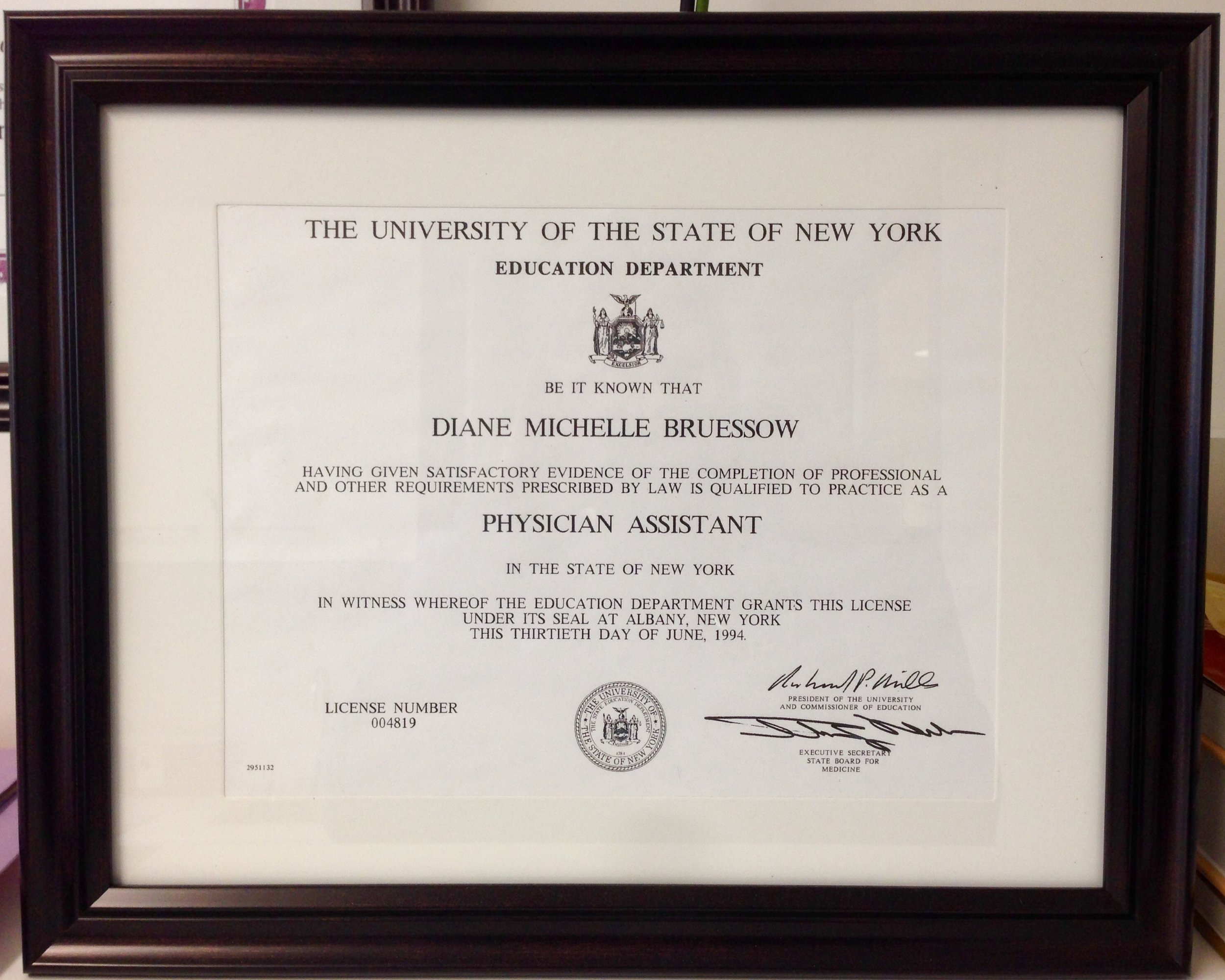 Licensed to practice medicine in NY for 25 years