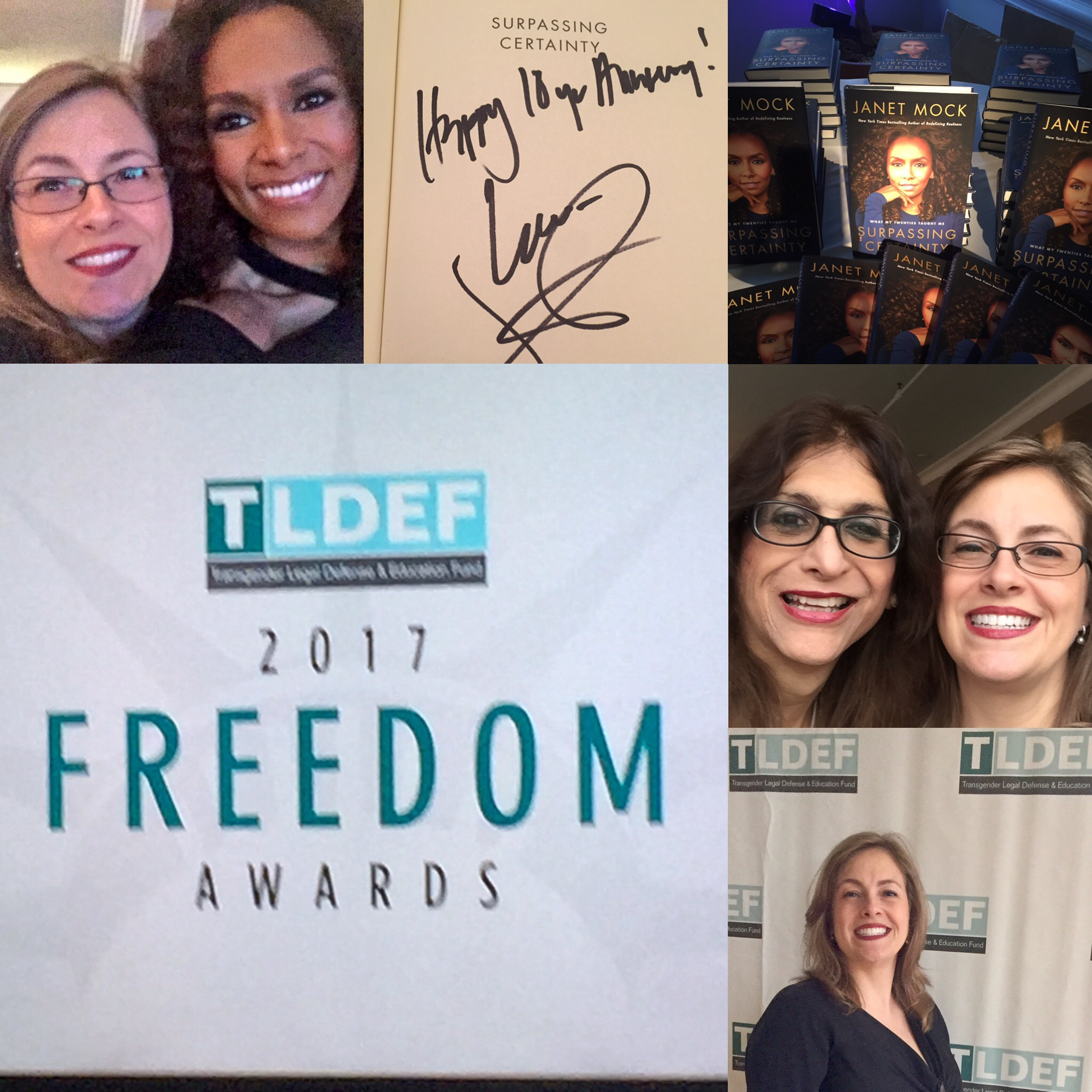 Attended the Transgender Legal Defense and Education Fund's 2017 Freedom Awards