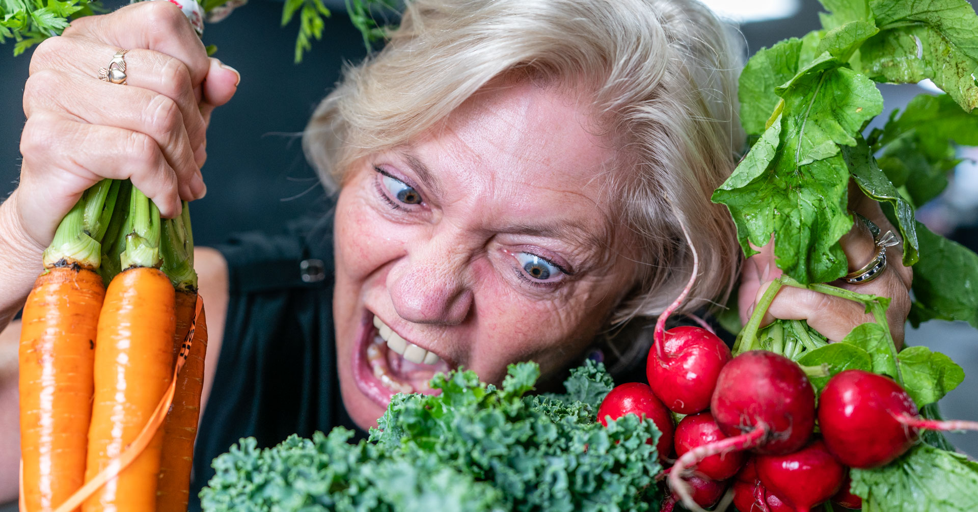 Violet and the angry veggies.JPG
