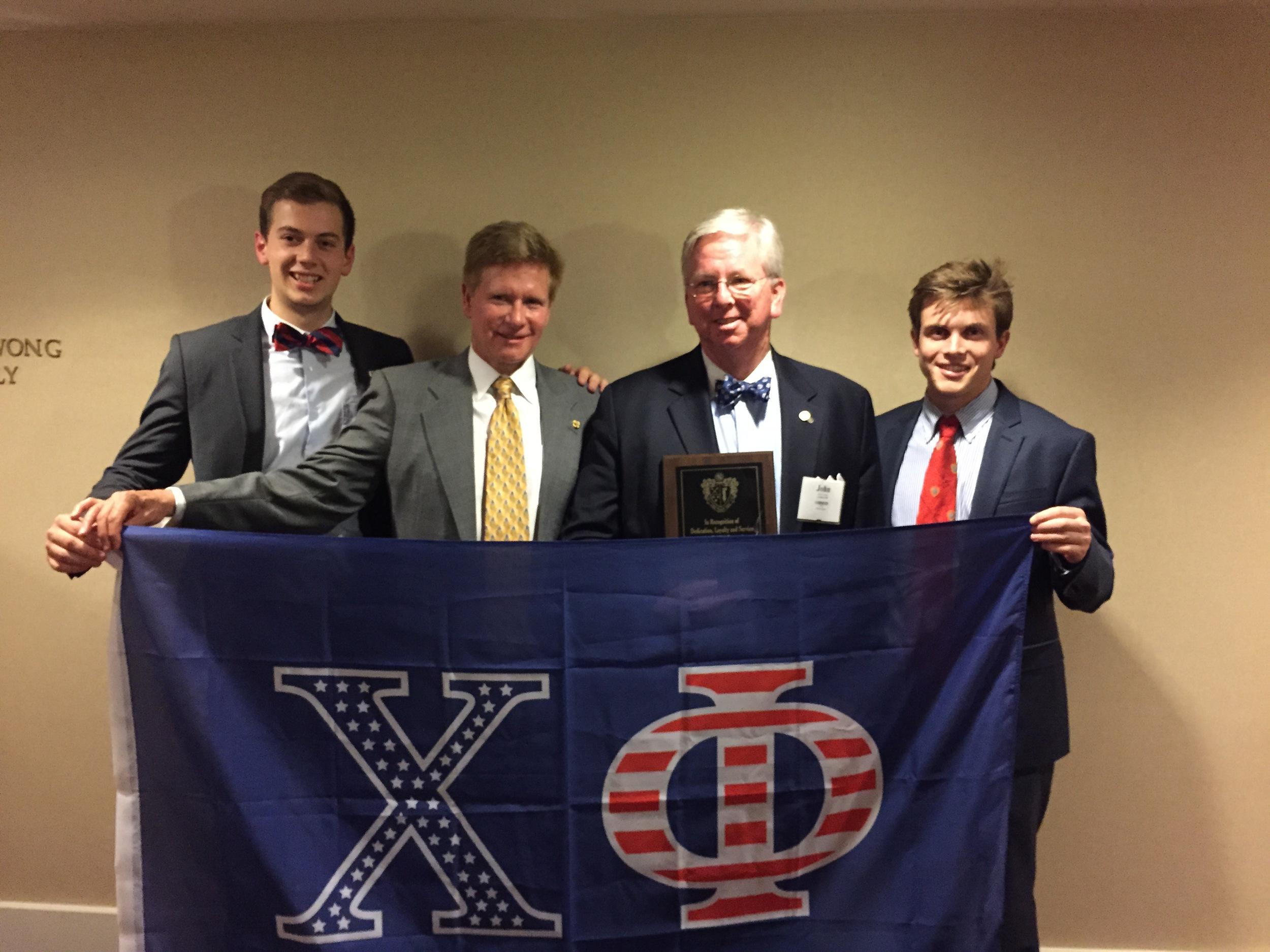 From left to right: Robert Purviance, Bob FInley, John Christian, Trevor Dowds.