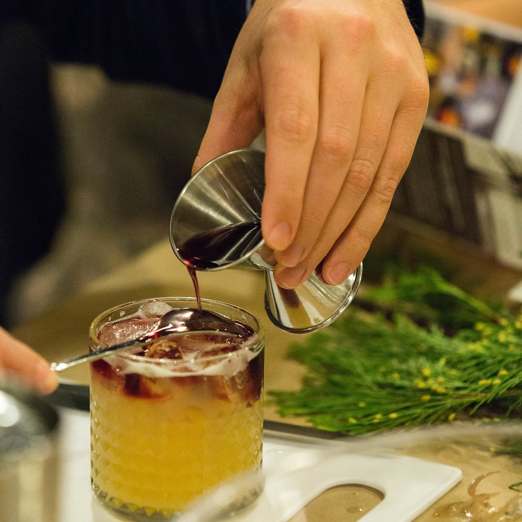 BIG TOWN SOUR - Ingredients:2oz Doc Porter's Rye Whiskey1oz Fresh Lemon Juice.75oz Fresh Pineapple Juice.75oz Orgeat2 dashes Angostora BittersDirections:Double shake, strain over ice, finish with a red wine float,.