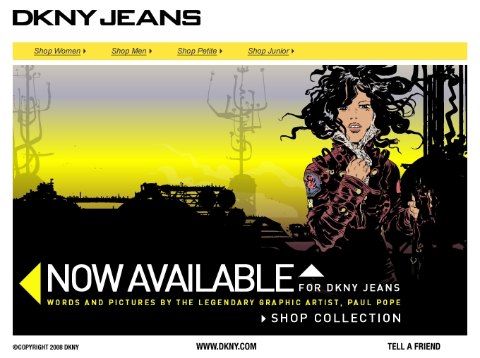 Email blast for DKNY Jeans