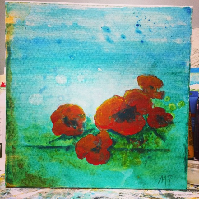 Dancing Poppies. An excercise in color. (Split complementary-ISH