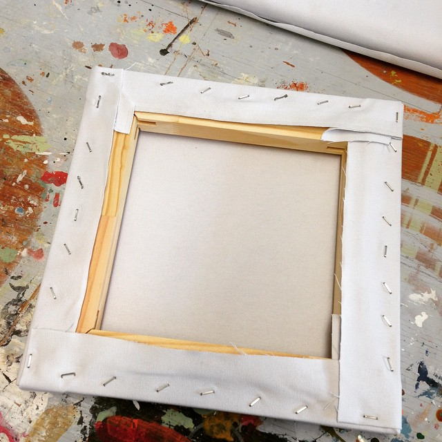 Shut the front door, kids. I think I just stretched my first canvas!