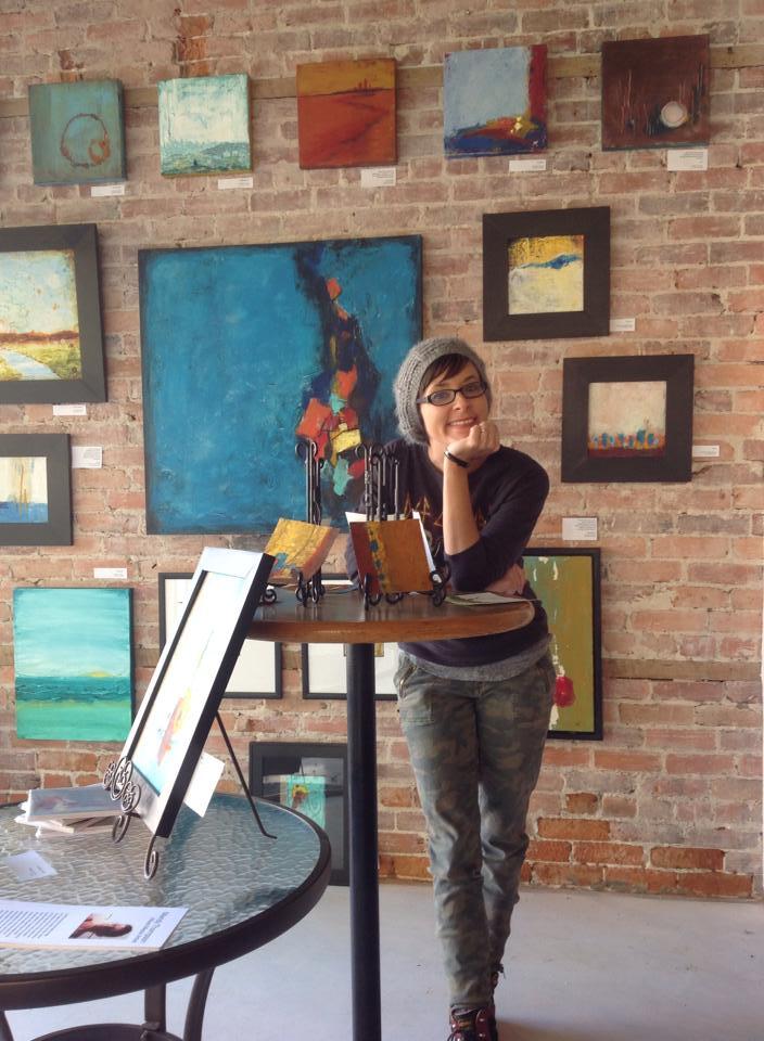 Mandy at SoGlo Gallery in downtown Brunswick, GA.