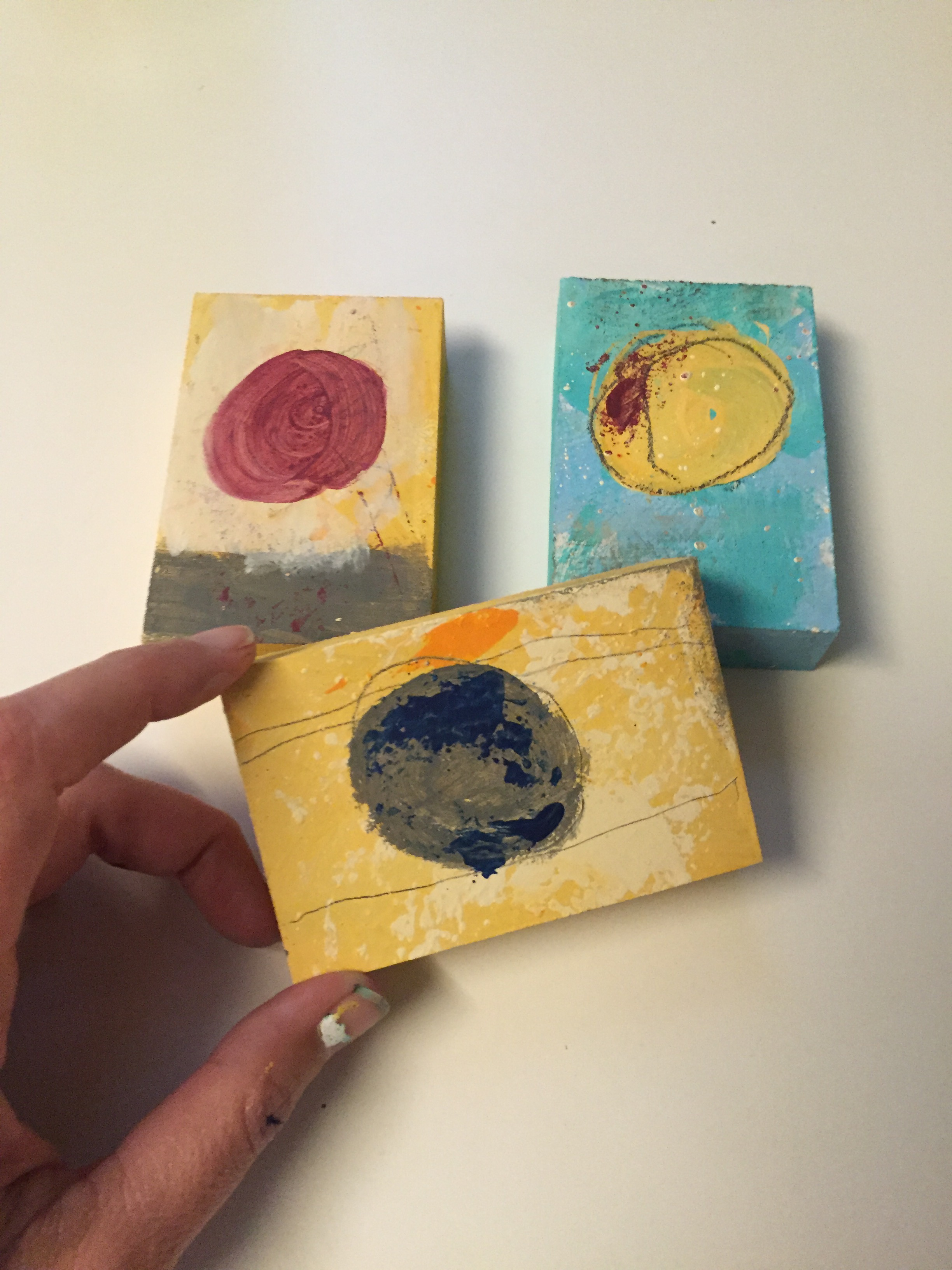 Art-O-Mat pieces in the making. Based on my 2016 circles series.