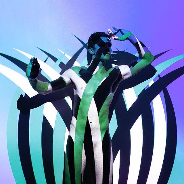"""Technicolor Safari (Night)"" - part of my Projected Image series. 6x6"" ltd edition archival print @ $100, DM for inquiries!"