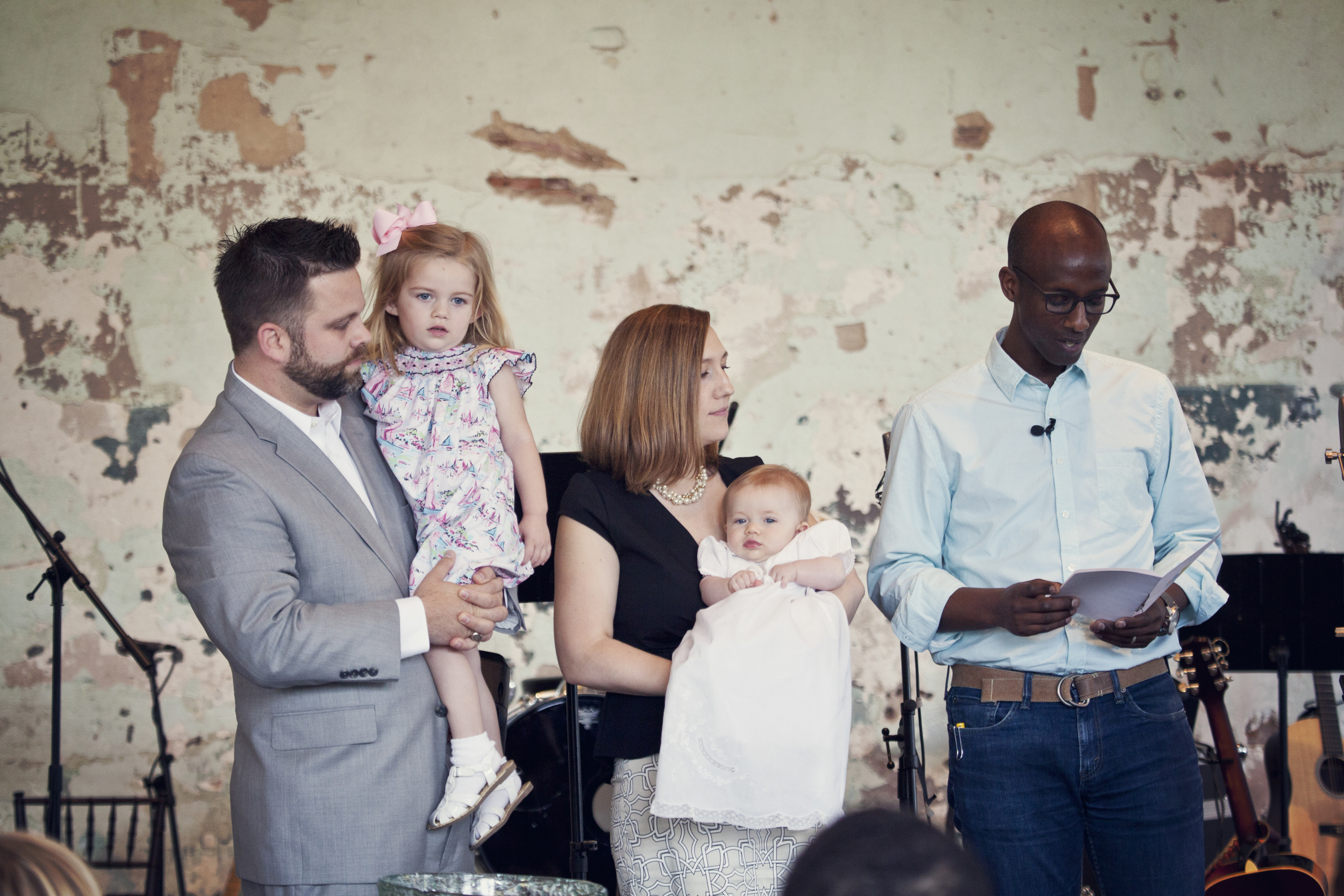 She's got a good lookin' family! And her youngest, olivia, was baptized earlier this year.