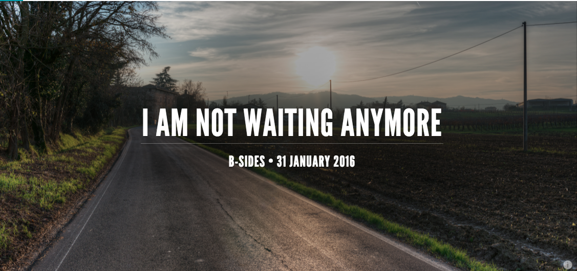 Many of us are waiting for a crowd to form before we move in the direction we think Jesus is most likely headed.