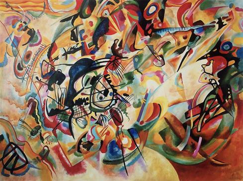 典型的康定斯基式的抽象画