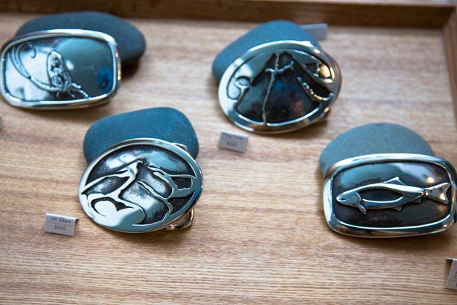 Assorted Silver Belt Buckles