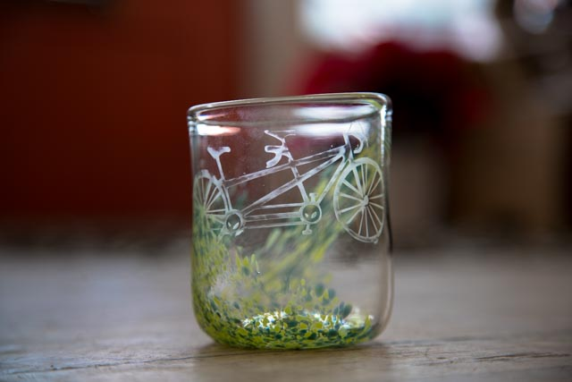 Green Bike Glass