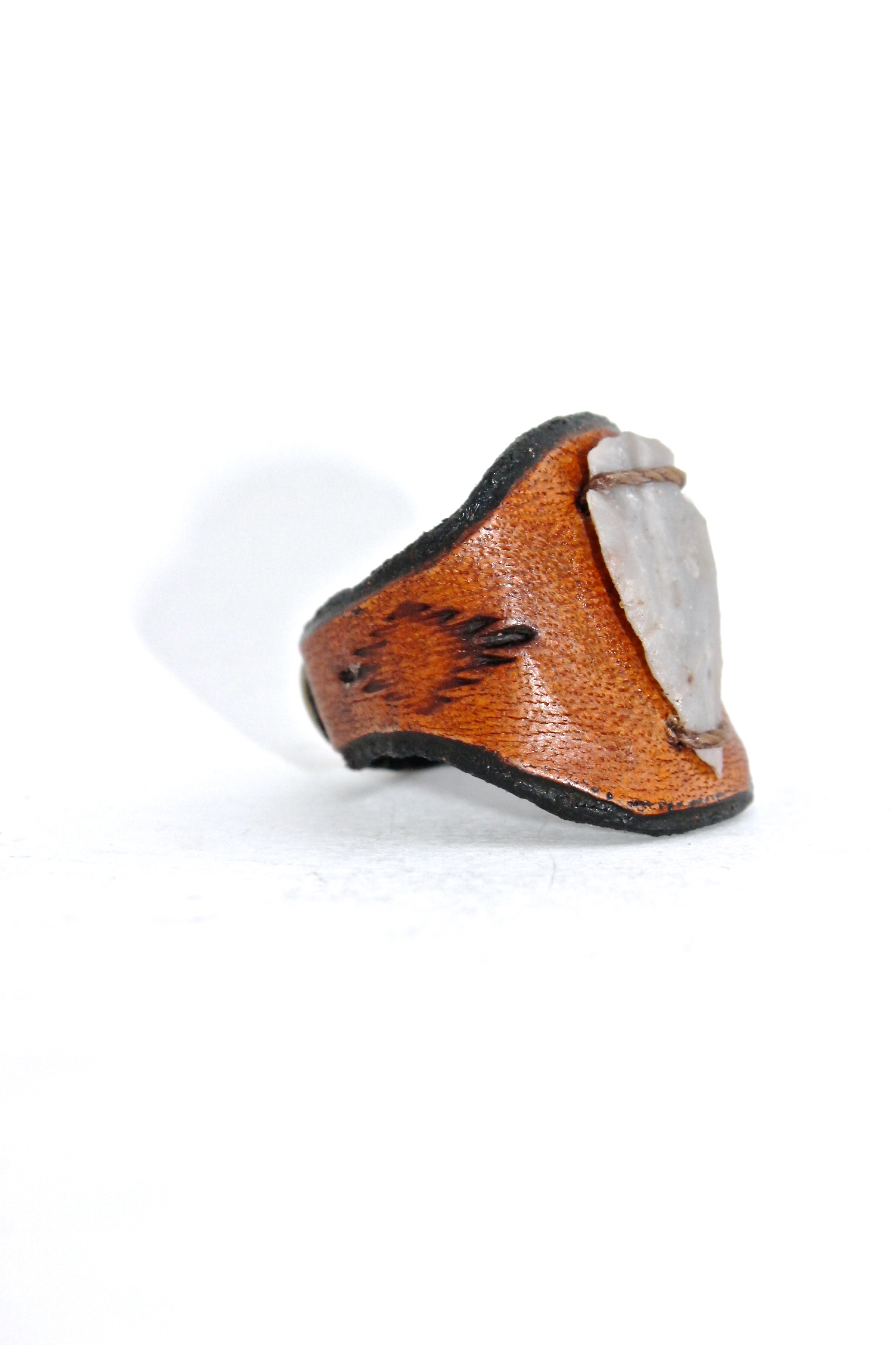 Arrow Head Leather Ring