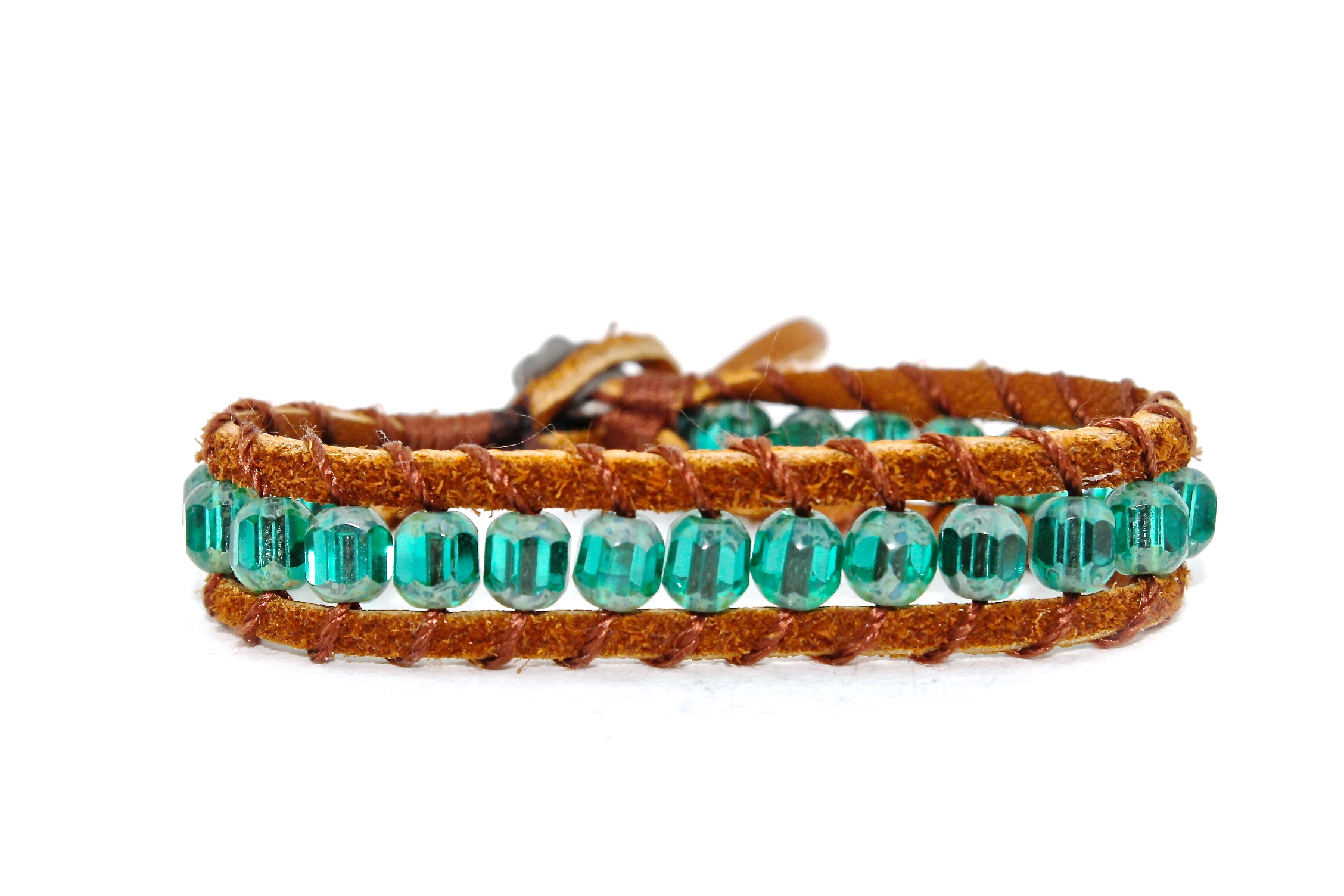 Leather + Bead Bracelet