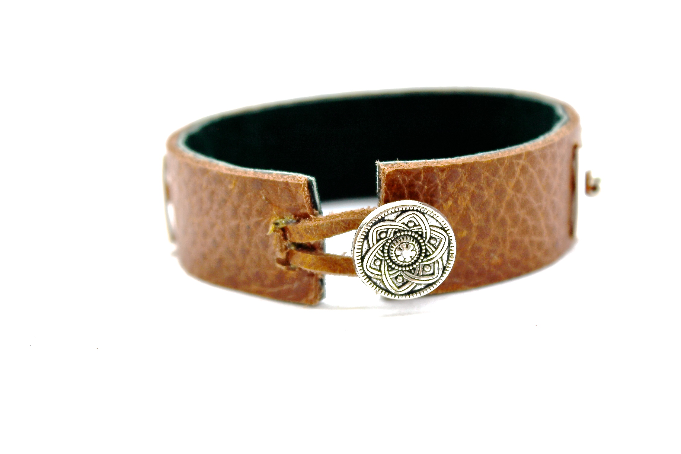 Leather + Silver Bracelet | Clasp