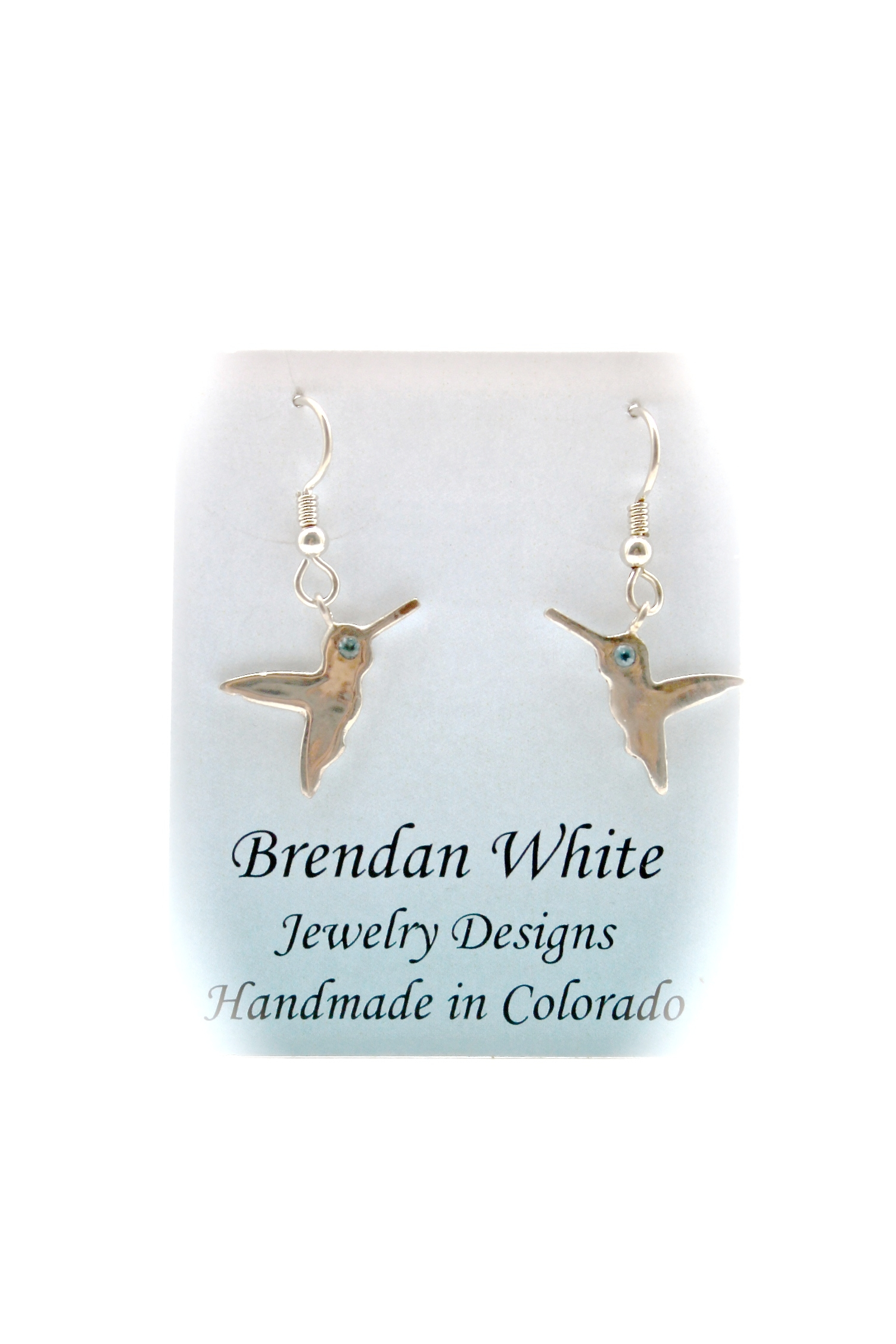 Hamming Bird Earrings | Topaz