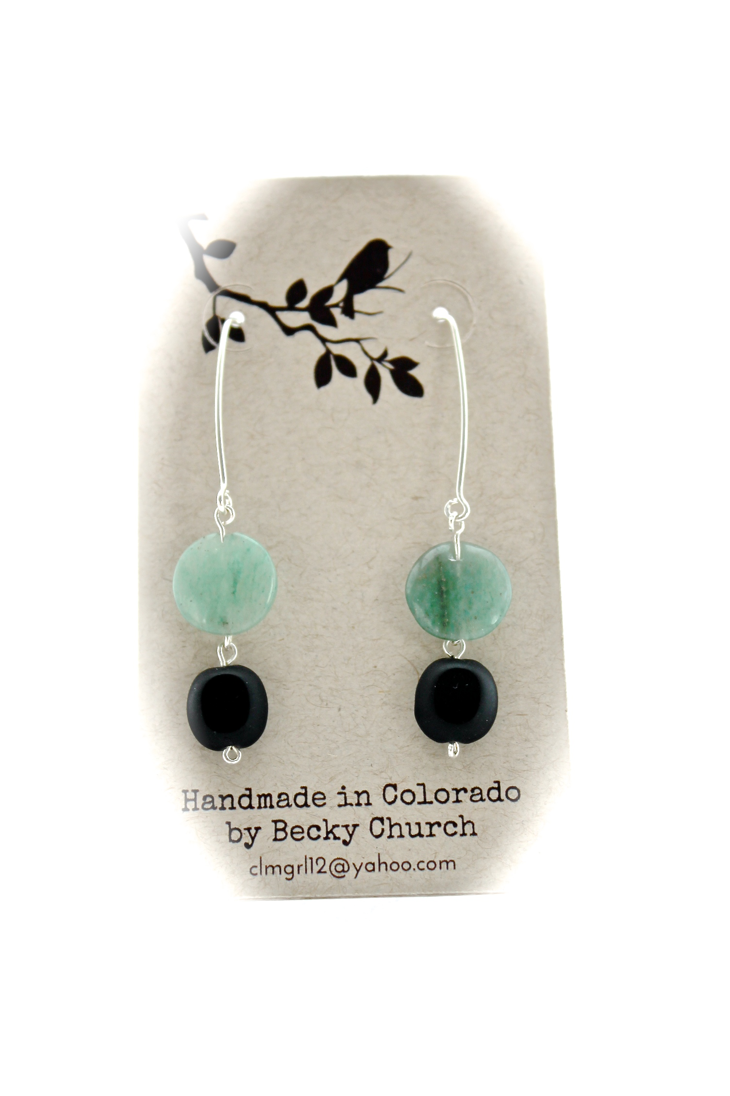 Blue + Black Stone Earrings