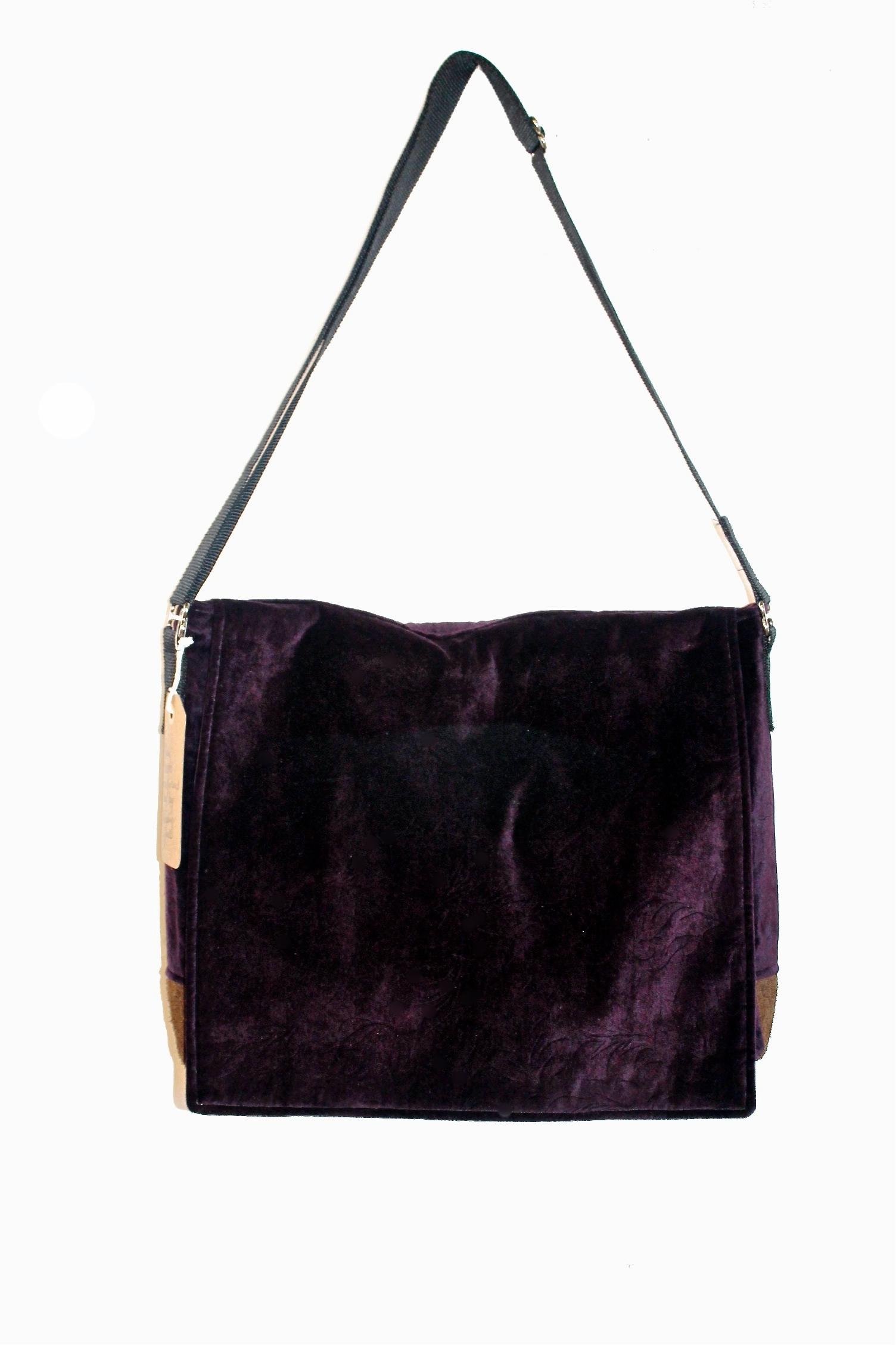 Purple Velvet Purse
