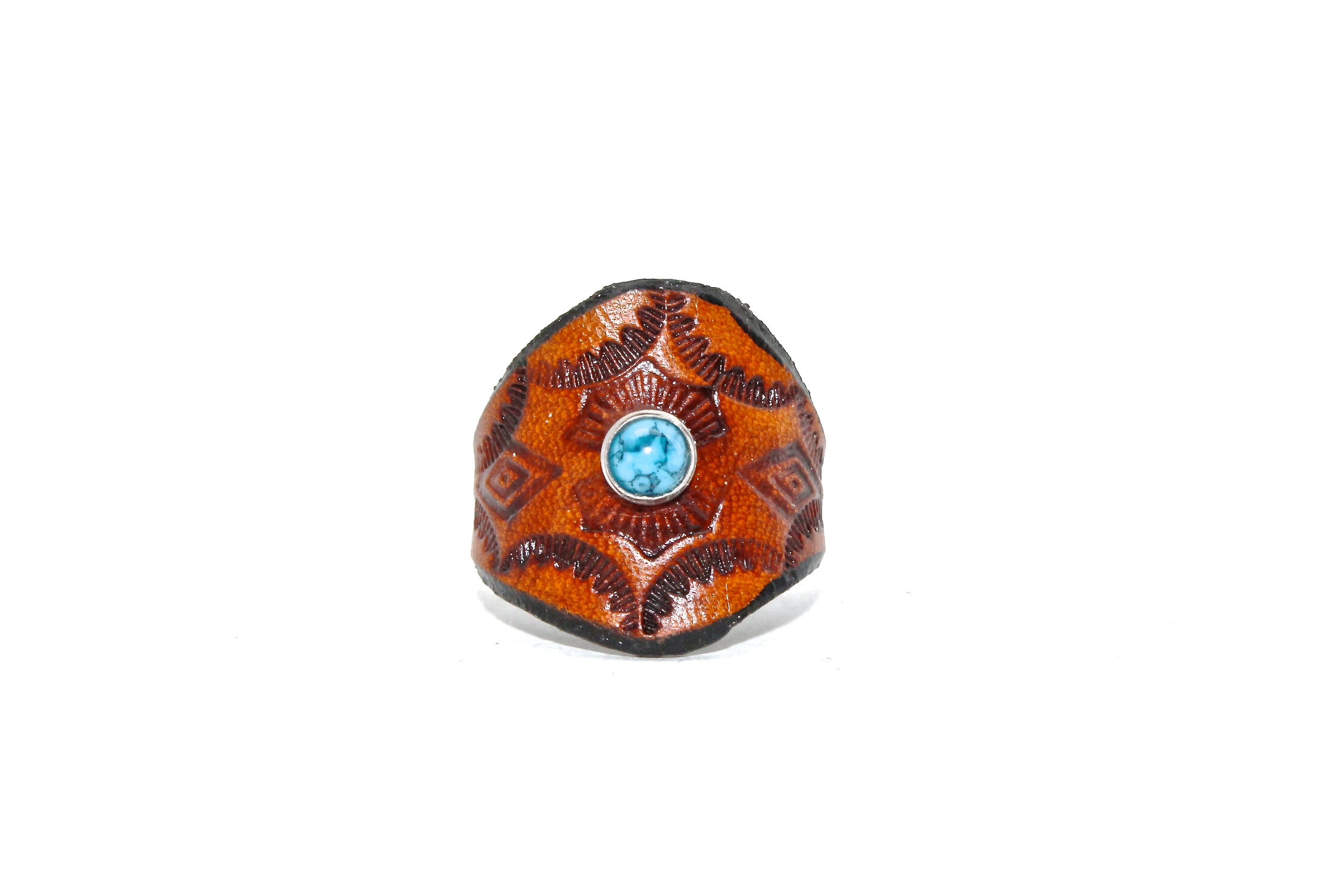 Turquoise Leather Ring