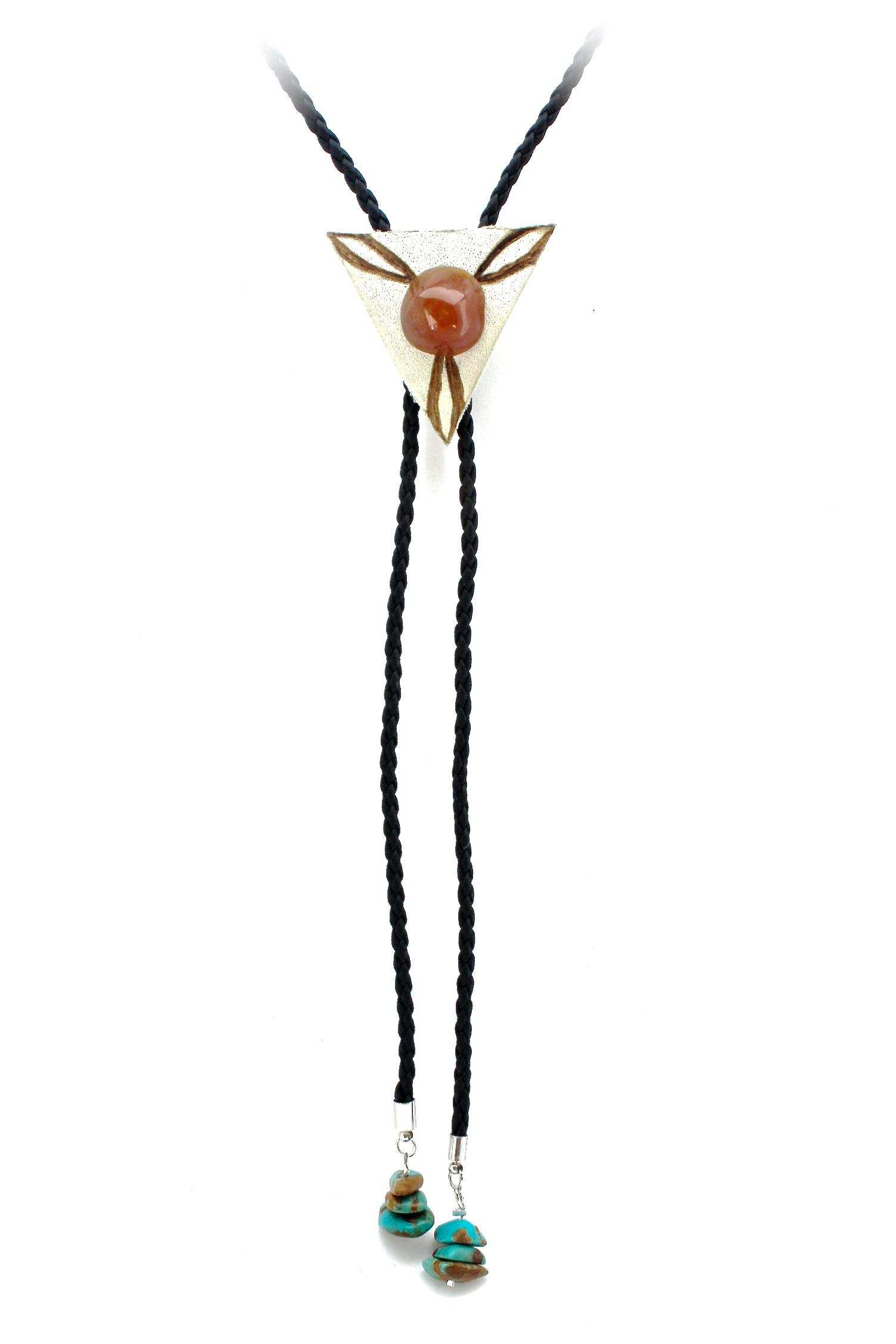 Stone Bolo Necklace