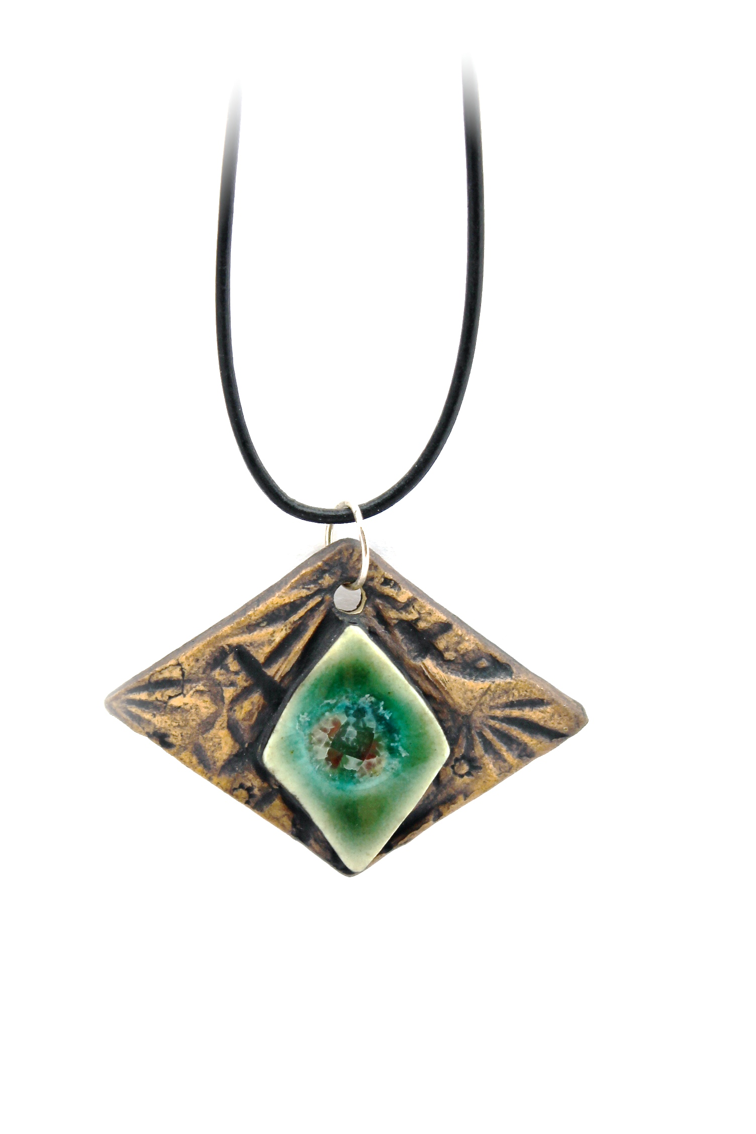 Ceramic + Melted Glass Pendants #18
