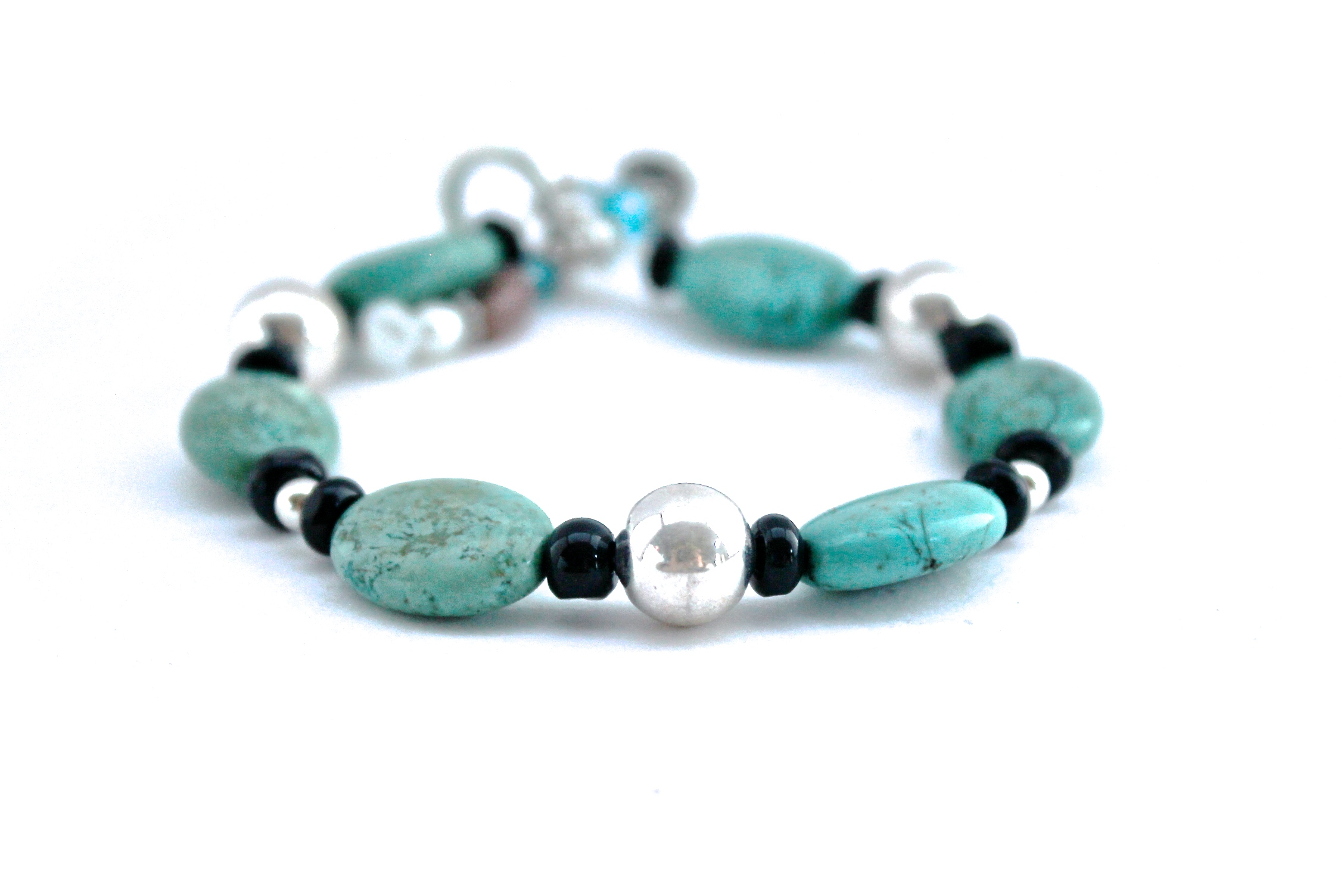 Turquoise + Silver Bracelet