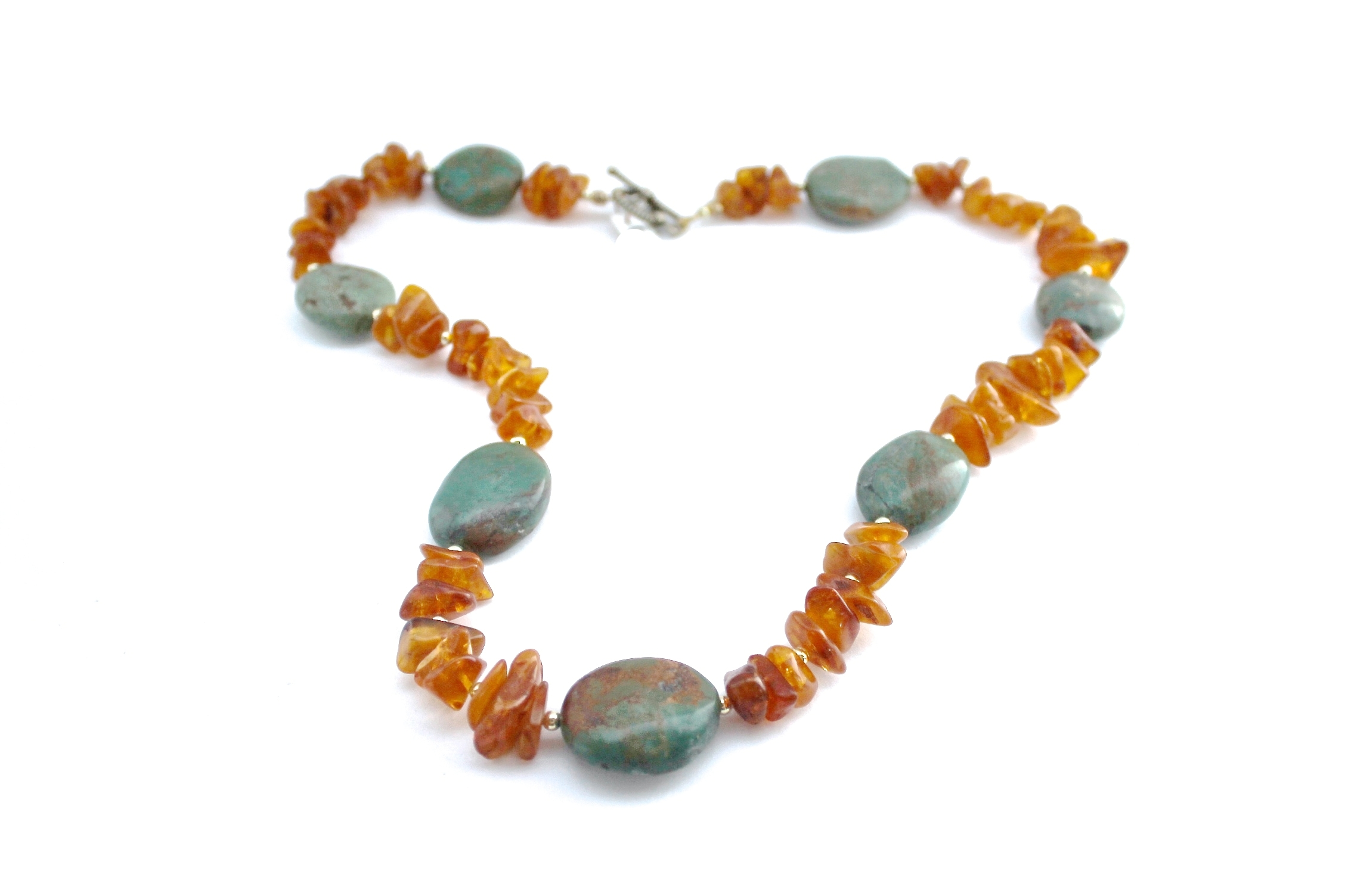 Turquoise + Amber Necklace