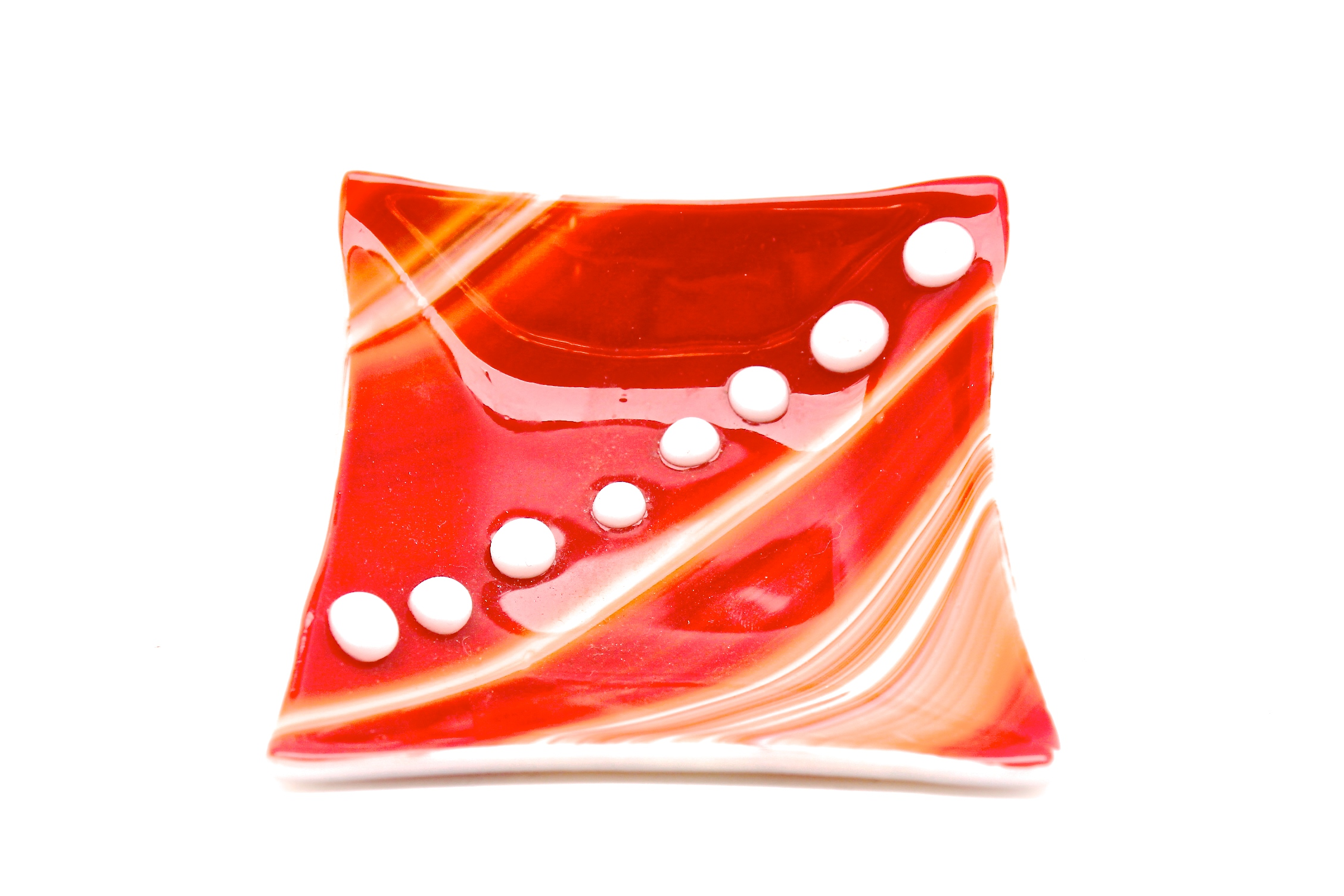 Red + White Dotted Dish