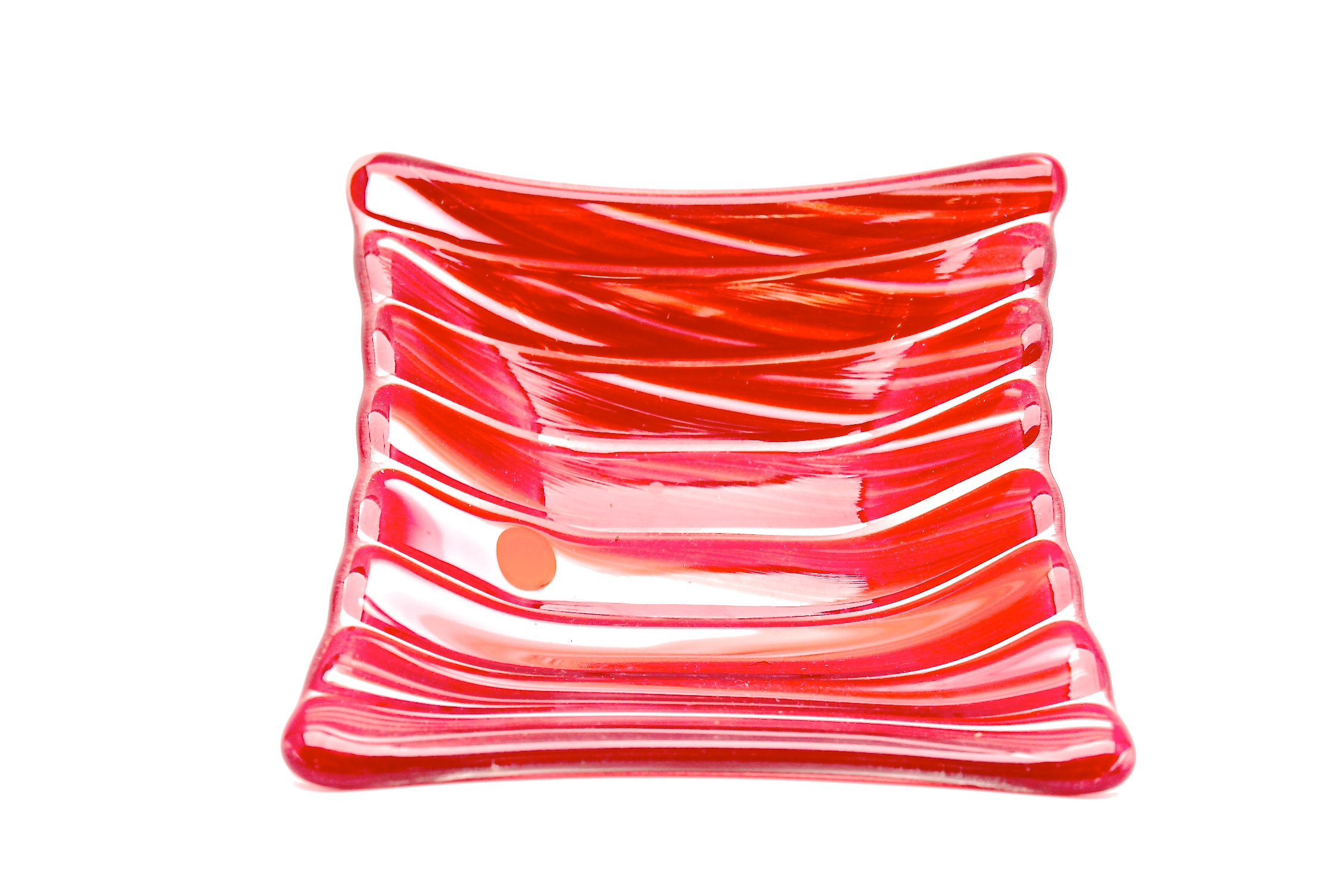 Red + white Stripped Dish
