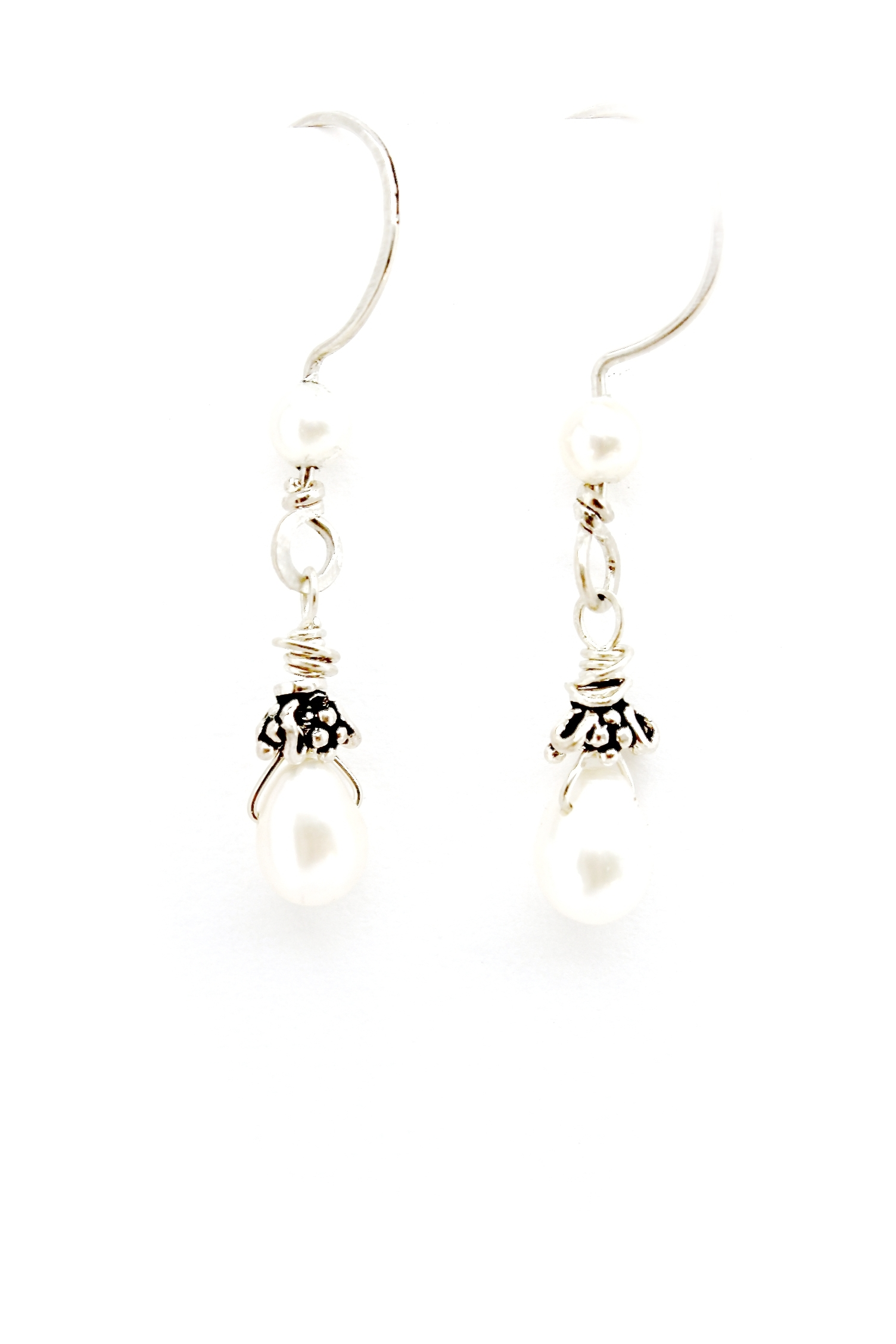 Sterling Silver + Pearl Earrings