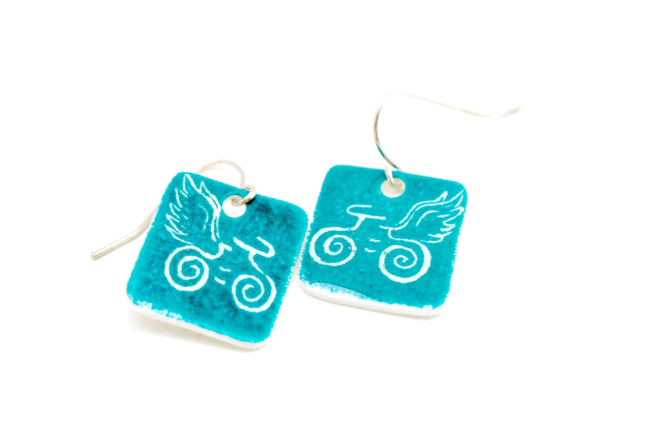 Guardian Angel Earrings | Turquoise Blue