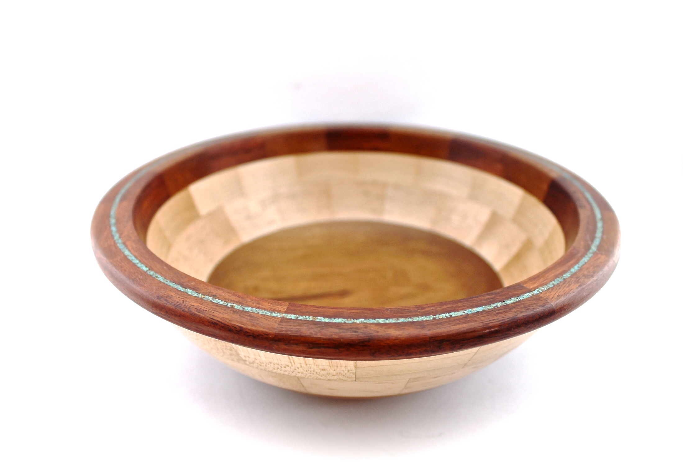 Chestnut + Maple + Turquoise Inlay Bowl