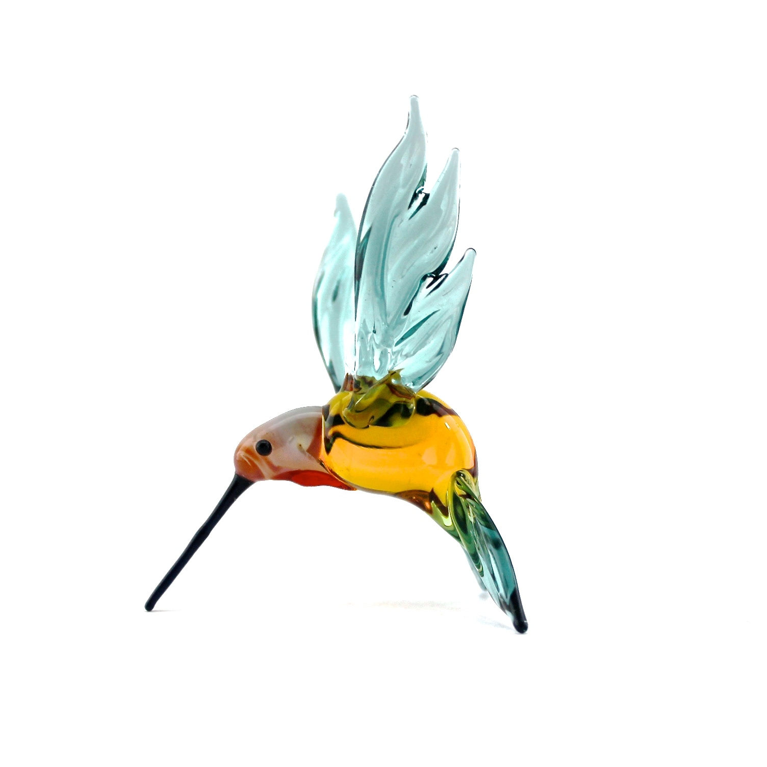 Hummingbird   Light Blue & Gold
