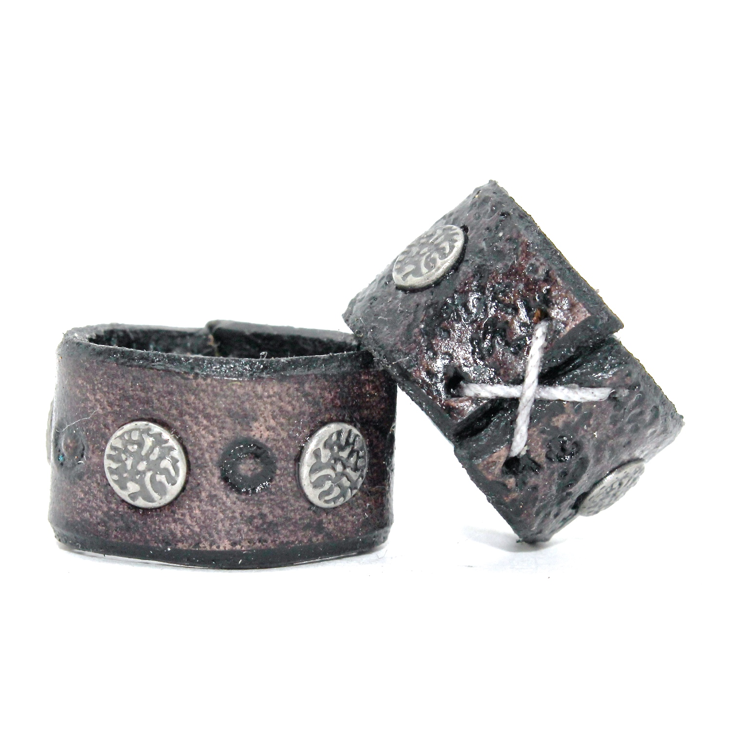 Studded Nickel Band Ring
