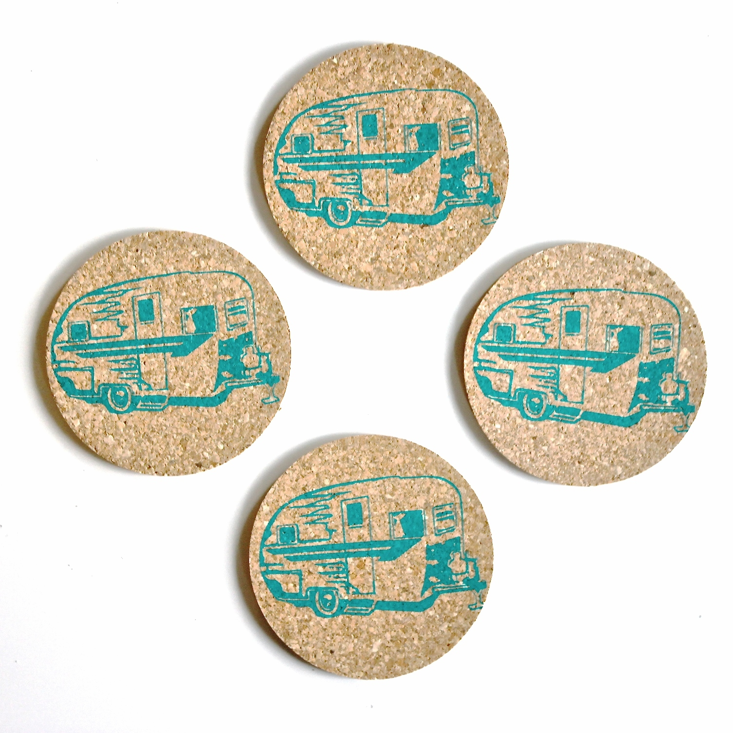 Camper Trailer Coasters-Set of Four