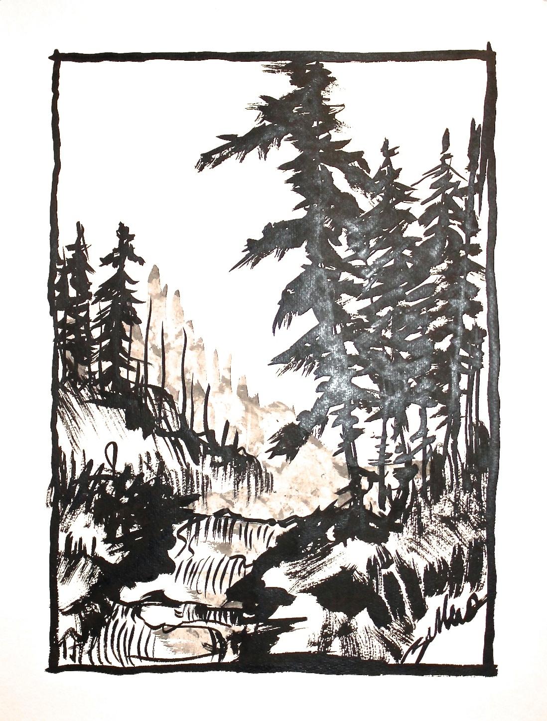 Trees + River | Alpine Series