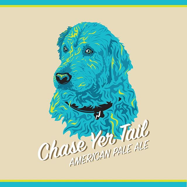 Who doesn't like dogs and beer? Did this one for a friend's home brew project. _ #design #graphicdesign #art #artwork #beer #bur #beerlabel #americanpaleale #chaseyertail #dog #labradorretriever #pupper #bork