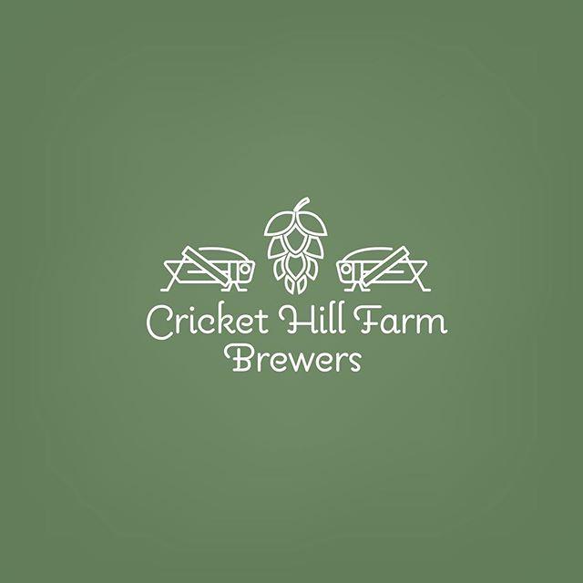 Cricket Hill Farm Brewers logo concept _ #design #logo #logodesign #graphicdesign #art #artwork #hops #beer #cricket #crickethill #brewery #brewers