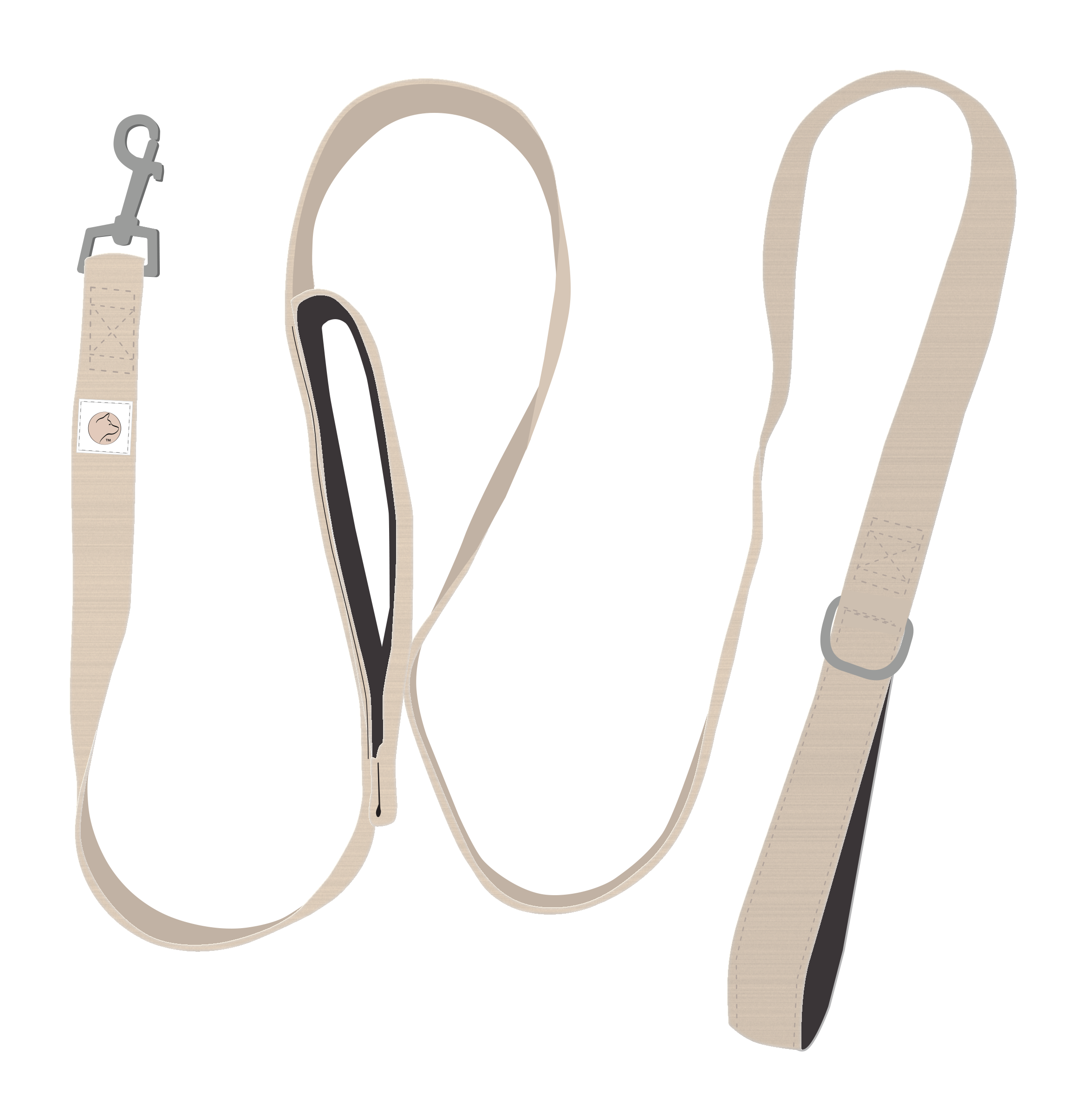 DOUBLE HANDLE LEASH... - A modern update for your furry friend, this Double Handle Leash is available in Champagne and Rose Gold. It's lightweight and machine washable. 100% Polyester with a silky, smooth finish.