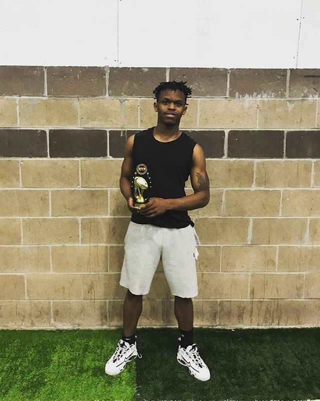 Congratulations to Quinton Smith from Blackhawks for winning the MVP honors for 20th MAP Flag Football Tournament