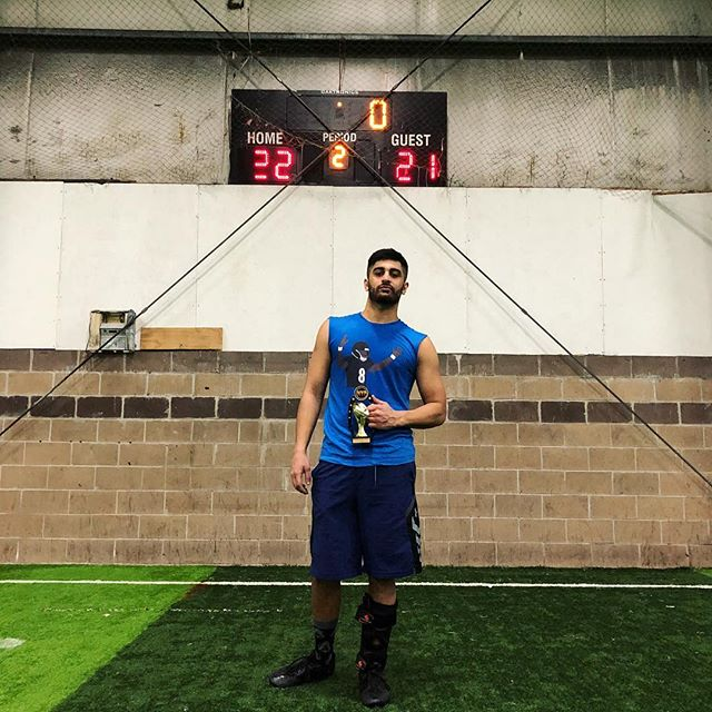 Congratulations to Hasnain Ahmed from the champions Blue Slide Park for winning the MVP honors for the 22nd MAP Flag Football Tournament!