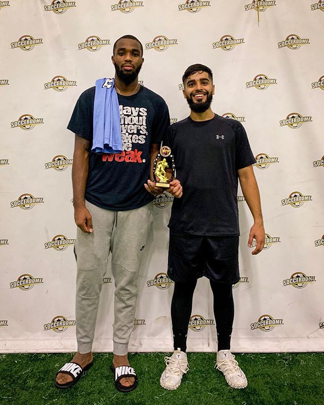Congratulations to Tariq Felder from the 2nd place Team Blitz and Zain Gul from the champions Blackhawks for winning the MVP honors for the 23rd  MAP Flag Football Tournament