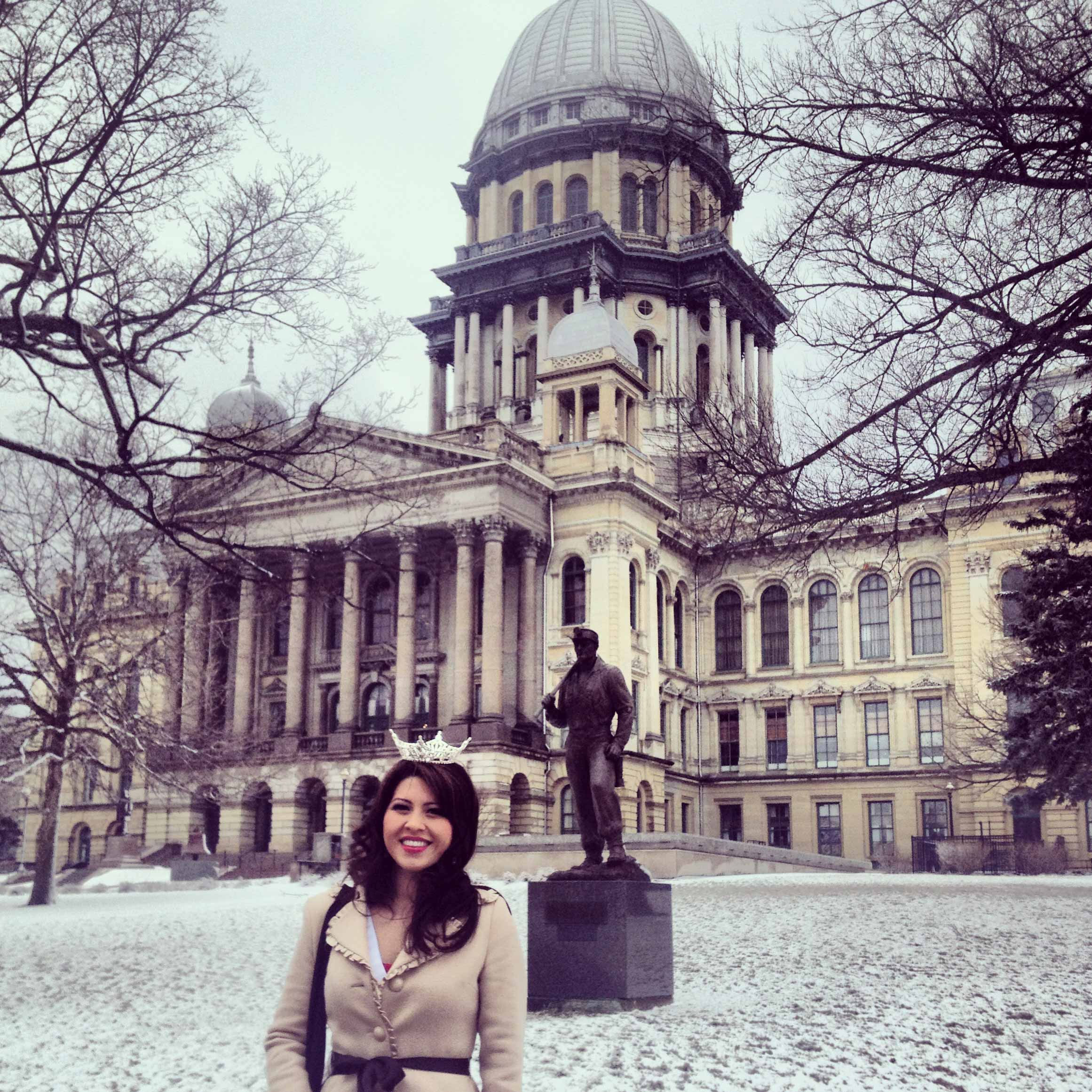Speaking at the State Capitol Building