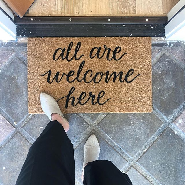 We loved this door mat and thought it added a nice touch to the entry way. It's the little things in life that inspire us on the regular. What inspires you?