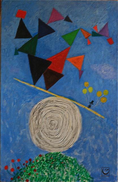 """The Power of Hope,"" 24 x 30,"" acrylic on canvas, 2015"
