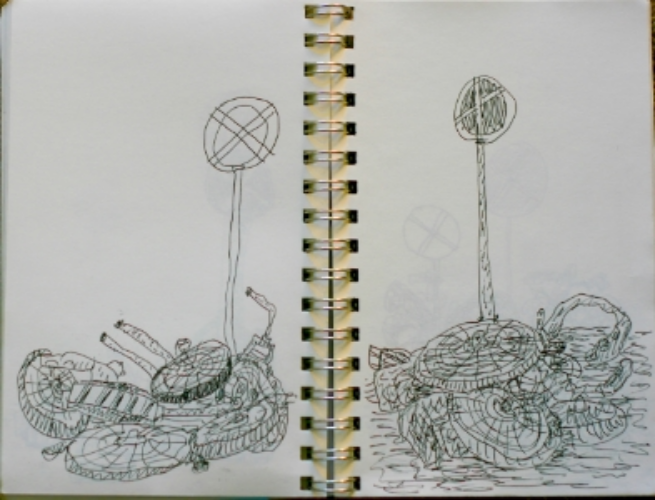 PAGE FROM DRAWING BOOK--AMSTERDAM 2009