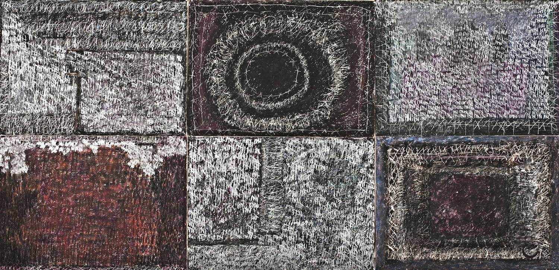 "SHOAH, 44"" X 90,"" Wax Crayon on paper, 2013"