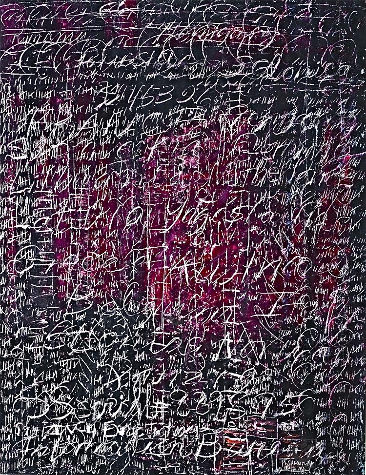 """PORTRAIT OF ADOLF EICHMANN, Wax Crayon on paper, 18"""" X 24,"""" 2013"""